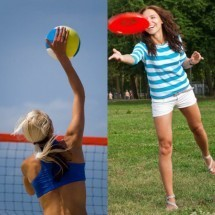 Beach-volley and Frisbee