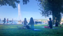 Free Yoga by the lake for International Yoga Day!