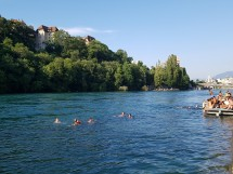 Swimming in the river Rhône - Jonction