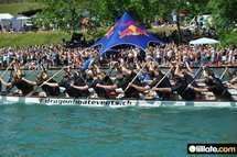 Dragon boating in Zurich - Drachenboot paddeln