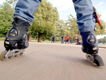 Inline skating in Montreux