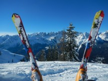 A day of skiing in Davos or another ski-resort
