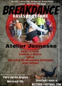 Free Breakdancing Class in Parc Jardin Anglais age 8-14 Picture