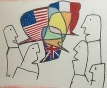 The English-French exchange at Café des Savoises