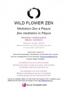 Zen meditation session in Pâquis on Sunday 14 January Picture