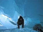 Zinal glacier Ice Cave Photo