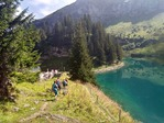 An emerald lake and the Pic Chaussy Photo