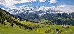 Skiing and Sledging in Diablerets Photo