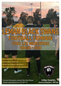 Ladies Soccer with the Black Swans FC in Lausanne !