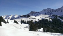 Snow shoeing/hiking in a Winter Wonderland/Les Paccots