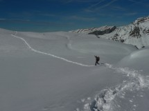 snowshoe hike to Montagne d'Anterne