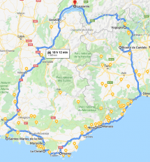Tour in Italy and South of France by car