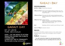 gaea21 day: Taking action and launching the SL communit