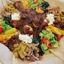 Ethiopian meal between