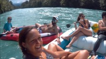 Aar river Bern day ride on inflatable boat
