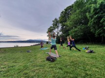 Yoga by Lake Geneva Picture