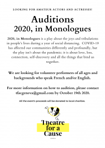 Auditions - 2020 in Monologues Picture