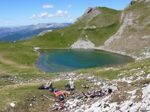 Hiking to Lake of Mont Charvin Picture