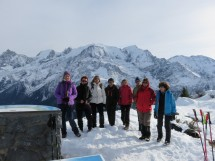 Snowshoes hike on the Prarion (Saint-Gervais) Picture