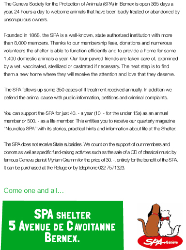 Openhouse at the Spa shelter of Bernex - september 22